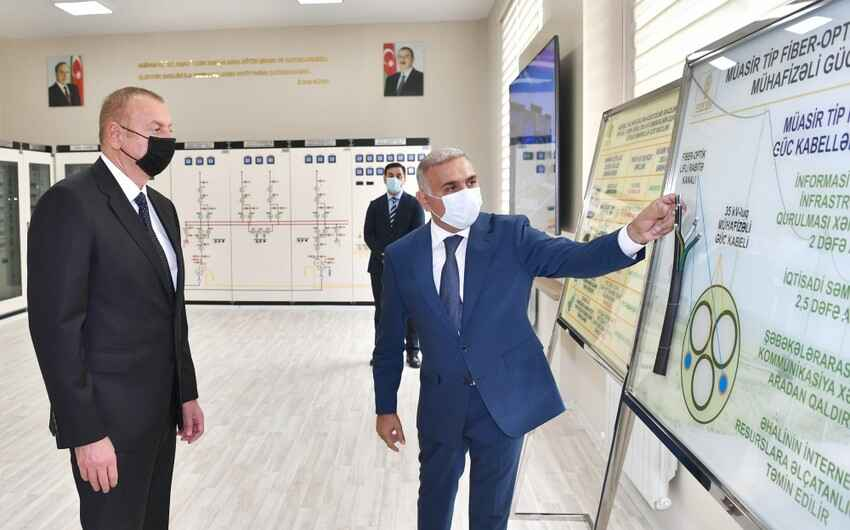 """President Ilham Aliyev attended inauguration of """"Buzovna-1"""" substation in Khazar district"""